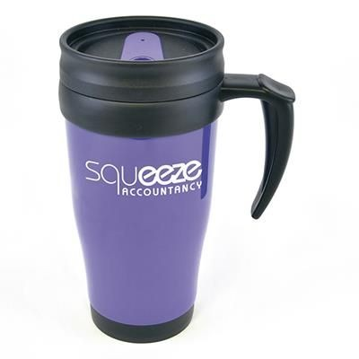 Picture of POLO PLUS PLASTIC TRAVEL MUG in Purple
