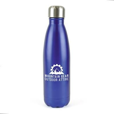 Picture of ASHFORD PLUS STAINLESS STEEL METAL DRINK BOTTLE in Blue