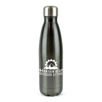 Picture of ASHFORD PLUS STAINLESS STEEL METAL DRINK BOTTLE in Gun Metal