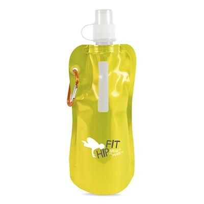 Picture of METALLIC FOLDING UP BOTTLE in Yellow