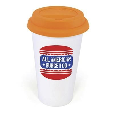 Picture of PLASTIC TAKE OUT MUG with Amber Lid