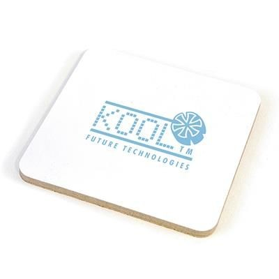 Picture of SQUARE COLOUR COASTER in White
