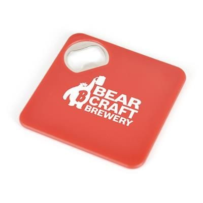 Picture of COASTER BOTTLE OPENER in Red