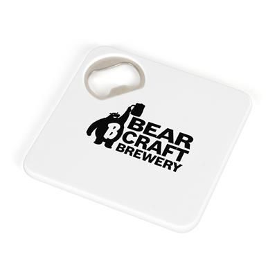 Picture of COASTER BOTTLE OPENER in White