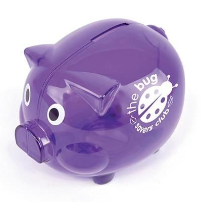 Picture of PIGGY BANK in Purple