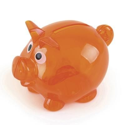 Picture of PIGLET BANK in Amber