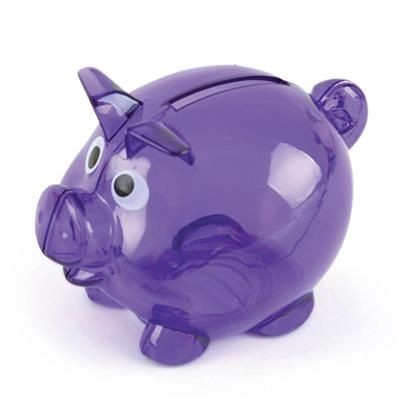 Picture of PIGLET BANK in Purple