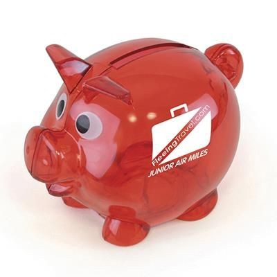 Picture of PIGLET BANK in Red