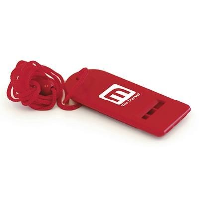 Picture of FLAT WHISTLE in Red