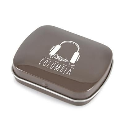 Picture of RECTANGULAR MINTS TIN in Brow