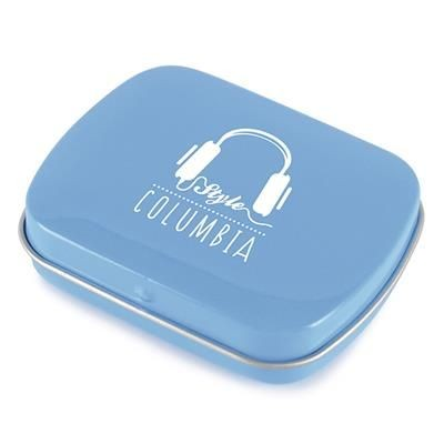 Picture of RECTANGULAR MINTS TIN in Cyan
