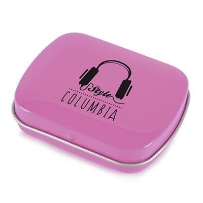 Picture of RECTANGULAR MINTS TIN in Dark Pink