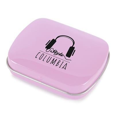 Picture of RECTANGULAR MINTS TIN in Light Pink