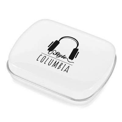 Picture of RECTANGULAR MINTS TIN in White