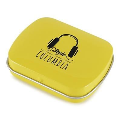 Picture of RECTANGULAR MINTS TIN in Yellow