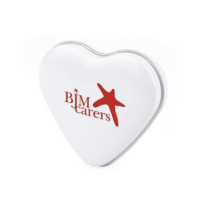 Picture of HEART MINTS TIN in White