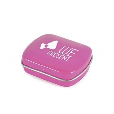 Picture of MICRO RECTANGULAR MINTS TIN in Pink