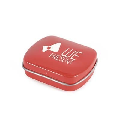 Picture of MICRO RECTANGULAR MINTS TIN in Red