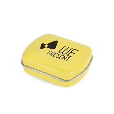 Picture of MICRO RECTANGULAR MINTS TIN in Yellow
