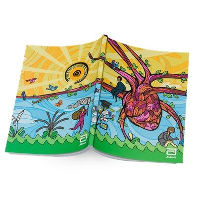 Picture of A5 PERFECT BOUND FULL COLOUR SOFTCOVER NOTE BOOK