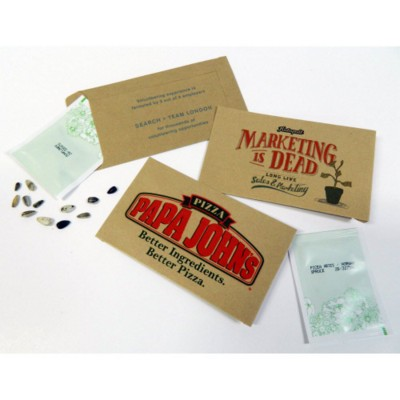 Picture of PERSONALISED KRAFT SEEDS POCKET