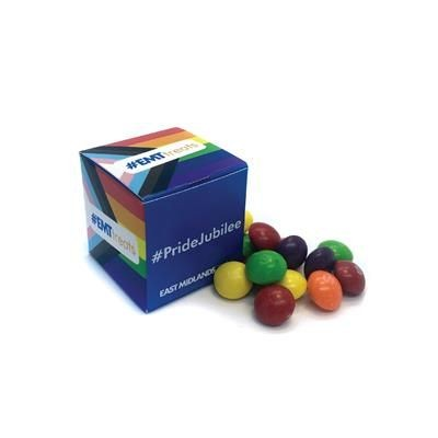 Picture of PRIDE PRODUCTS - 40MM CUBE CONTAINING SKITTLES