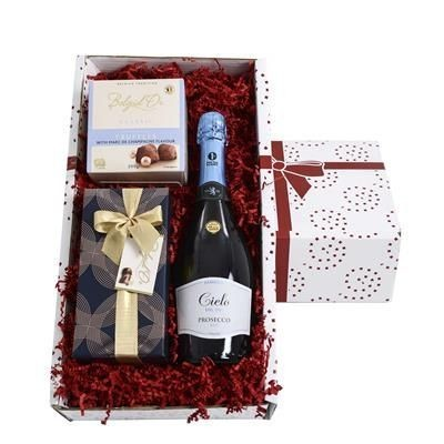 Picture of PROSECCO, CHOCOLATE & TRUFFLES GIFT BOX