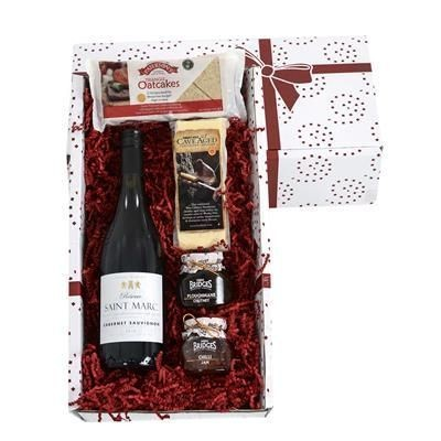 Picture of CHEDDAR CHEESE & WINE GIFT BOX