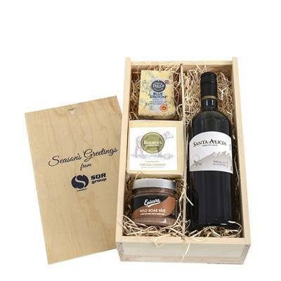 Picture of WINE, CHEESE & PATE CRATE