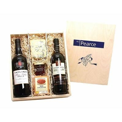 Picture of PORT, WINE & CHEESE CRATE