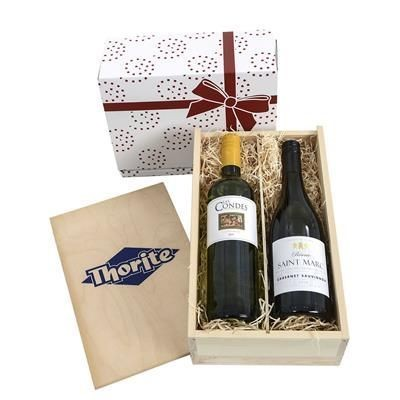 Picture of TWO-BOTTLE WINE GIFT BOX