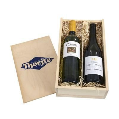 Picture of TWO-BOTTLE WINE CRATE