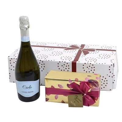 Picture of SPARKLING WINE & CHOCOLATES GIFT BOX