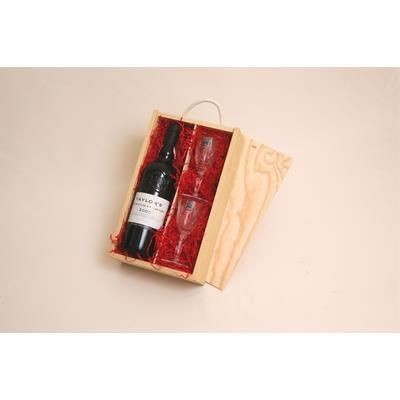 Picture of PORT GIFT BOX WITH CRYSTAL GLASSES