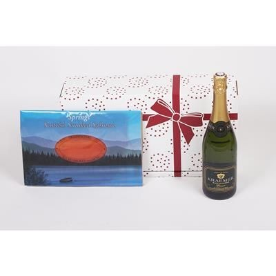 Picture of SPARKLING WINE & SMOKED SALMON GIFT BOX