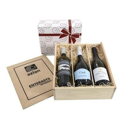 Picture of THREE-BOTTLE WINE GIFT BOX