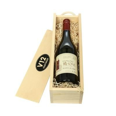 Picture of WINE IN WOODEN CRATE