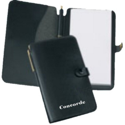 Picture of EXECUTIVE POCKET NOTE PAD JOTTER in Recycled Bonded Leather
