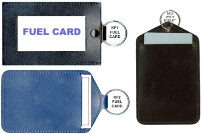 Picture of FUEL or CREDIT CARD KEYRING in Recycled Bonded Leather