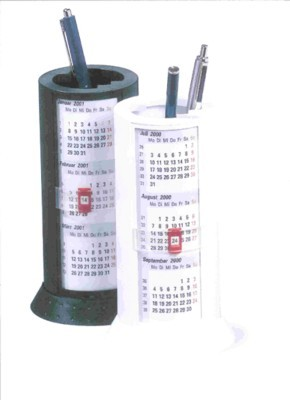 Picture of CYLINDRICAL DESK CALENDAR & PEN POT