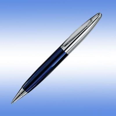 Picture of LPC 016 BALL PEN in Blue with Silver Trim