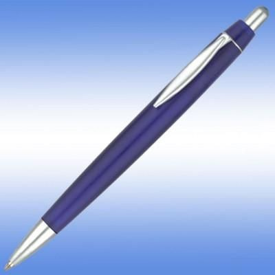 Picture of ALBANY FROST BALL PEN in Frosted Blue with Silver Trim