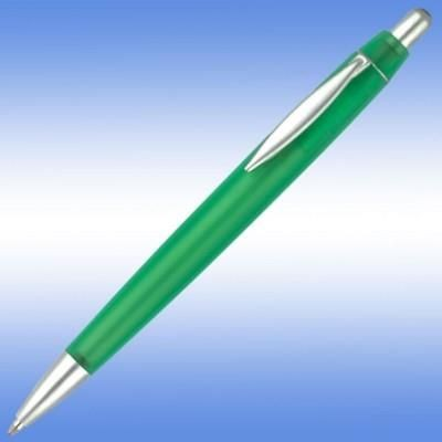 Picture of ALBANY FROST BALL PEN With Frosted Coloured Barrel and Silver Trim