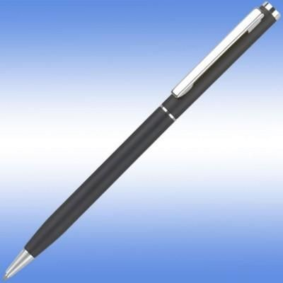 Picture of CHEVIOT ARGENT BALL PEN in Black with Silver Trim