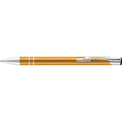 Picture of ELECTRA ALUMINIUM METAL BALL PEN in Orange