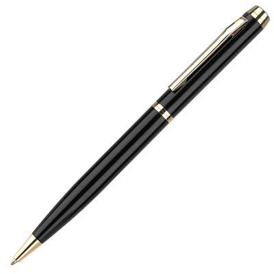 Picture of ENVOY ROLLERBALL PEN in Black with Gold Gilt Trim
