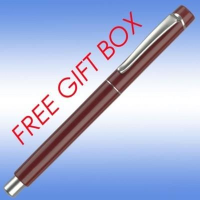 Picture of EVOLUTION BALL PEN in Burgundy with Silver Trim