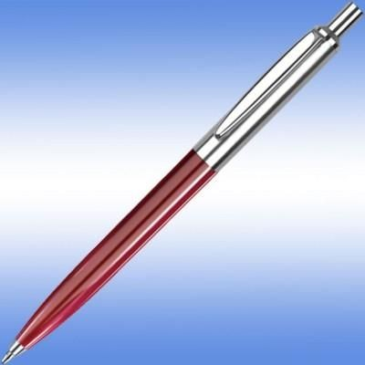 Picture of GIOTTO BALL PEN in Burgundy with Silver Trim