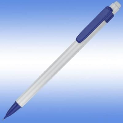 Picture of GUEST MECHANICAL PROPELLING PENCIL in White with Blue Trim