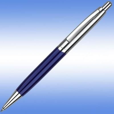 Picture of KASHEL BALL PEN in Blue with Silver Trim